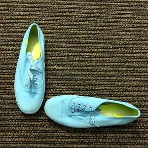 Keds Champion Gingham Lace blue and neon green
